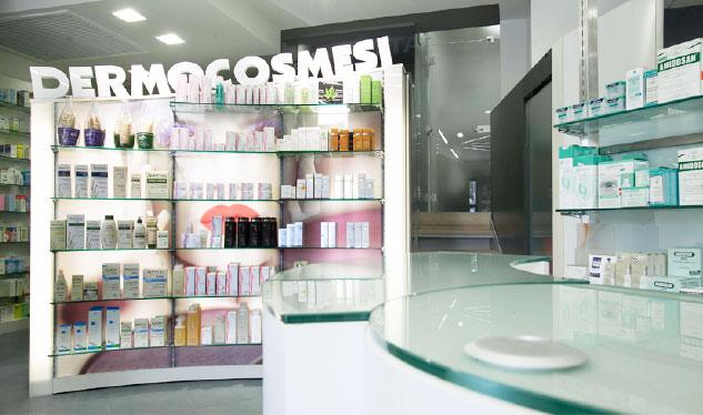 Visual merchandising in farmacia